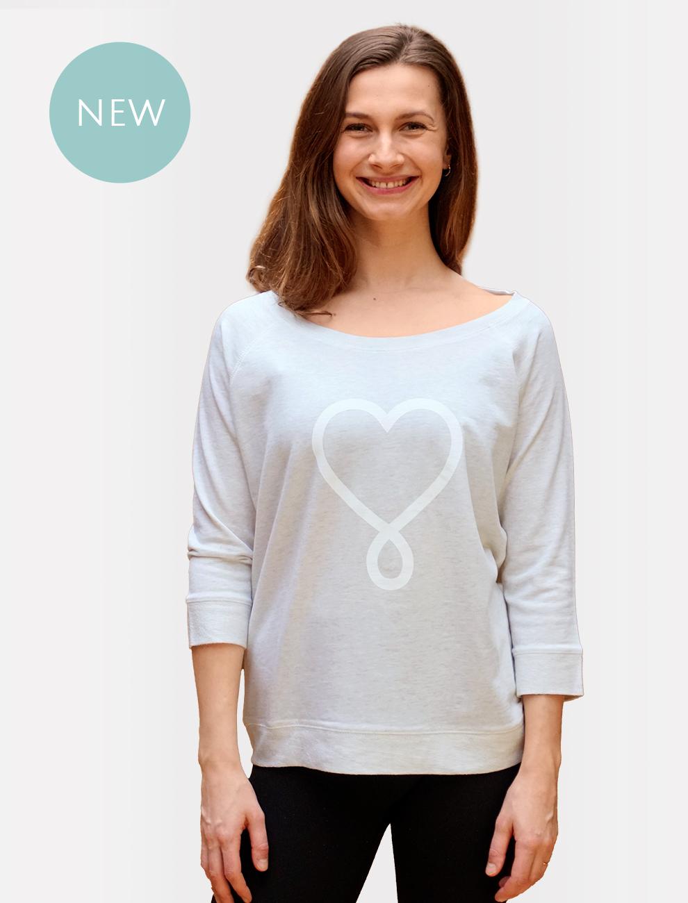 Love Sweater / nachhaltige Lounge-Bekleidung l 100% Bio & fair poduziert