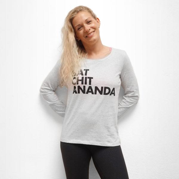 Sat Chit Ananda / Yoga Shirt Longsleeve / Nachhaltige Yoga Bekleidung