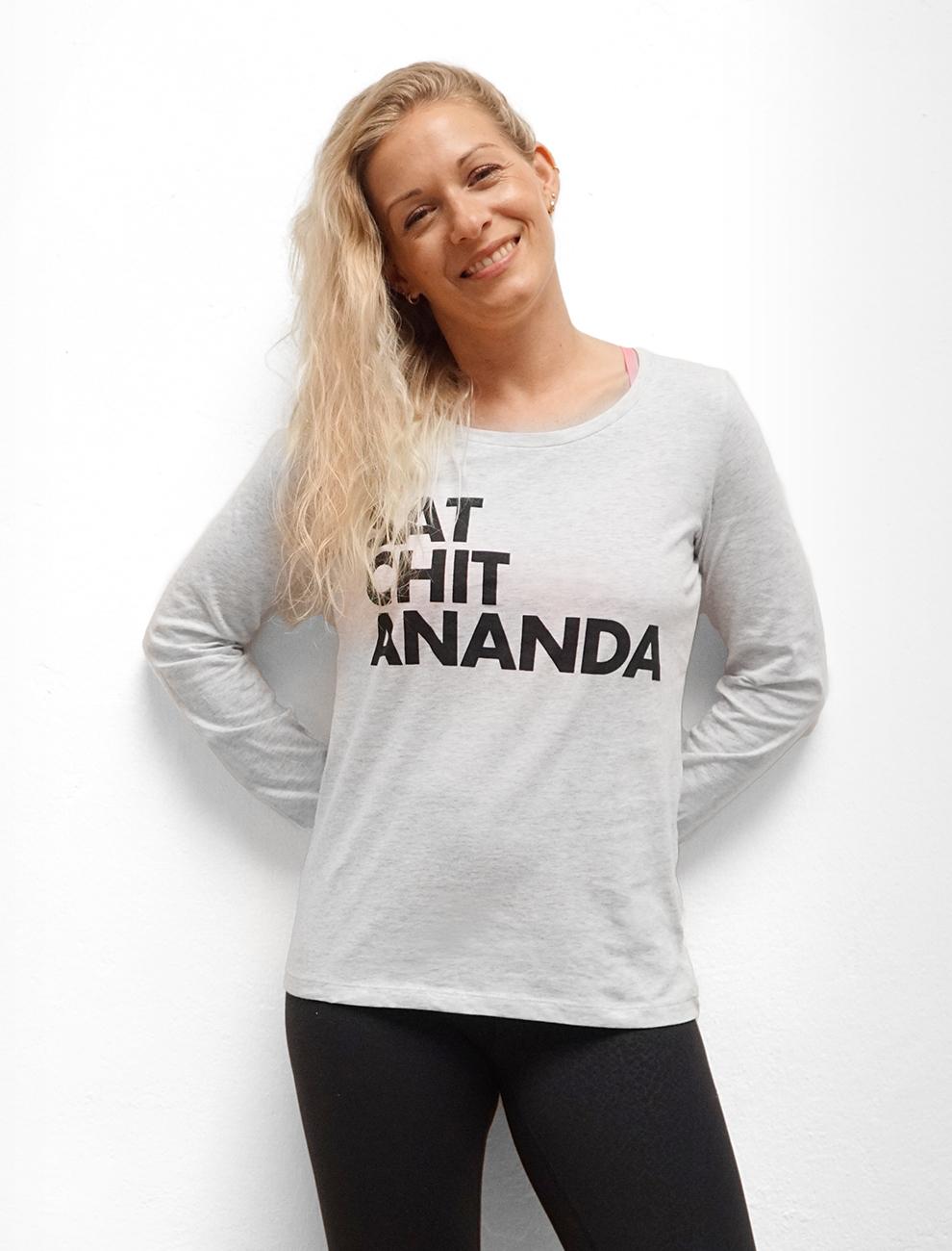 Sat Chit Ananda / Yoga Shirt Longsleeve / Nachhaltige Yoga Bekleidung / Neuzugang
